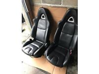 Black leather seats Vw T4 t5 Landrover defender Mazda Bongo kit car upgrade