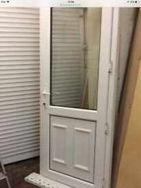 Upvc door with frame, vgc could deliver