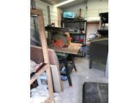 DeWalt powershop 1251 rotary saw w.bench