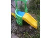 Little tikes play house and slide