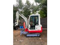 takeuchi tb016 2007 mini digger excavator (not jcb kubota cat bobcat