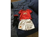 Boys age 3-4 Manchester United football kit.