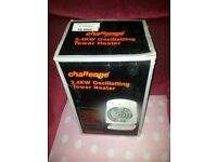 Boxed challenge 2.4kw oscillating fan heater in working order