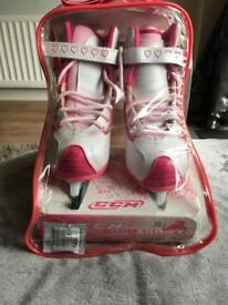Glitter girl ice skates , size 11 , euro size 30