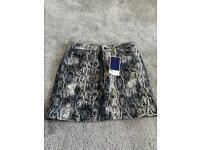 Zara Snake Print Skirt - M