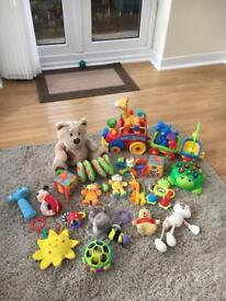 Bundle of toys and rattles. 0+months