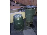 FREE - Compost bin + water recycler + 2x outdoor mat