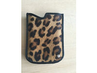 Blackberry Leather & Leopard Print Case