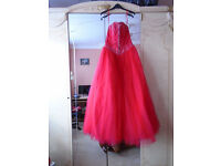 Prom Dress, size 10, Red