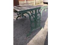 cast iron garden table ends very heavy original ends £40