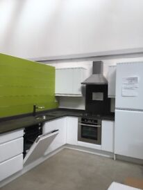 Gloss white ex display excellent condition kitchen with granite worktops dishwasher oven and job