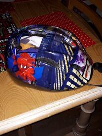 Spiderman childrens bike helmet