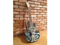 National Resorocket Resonator Guitar 2006 Nickel plated Bell Brass Body