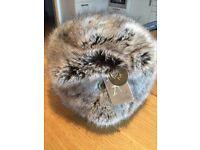 Accessorize womens faux fur cossack hat grey (mink) BNWT