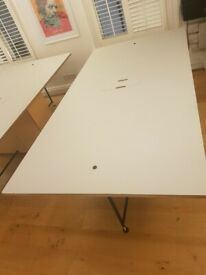 Office Desk - Bespoke 2 person desk pod in beech, £120 each NO OFFERS!