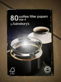 BOX OF SAINSBURY'S COFFEE FILTER PAPERS