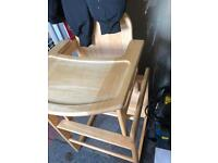 High chair kids multi functional high chair low chair with table