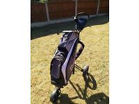 TaylorMade 14 Way cart bag and Master Series 5 golf cart