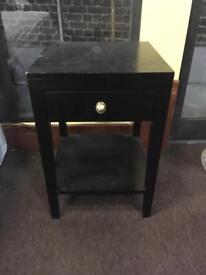 2 x Black Bedside Tables