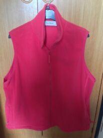 Amy Moore Red Zip Up Gillet Fleece - XL