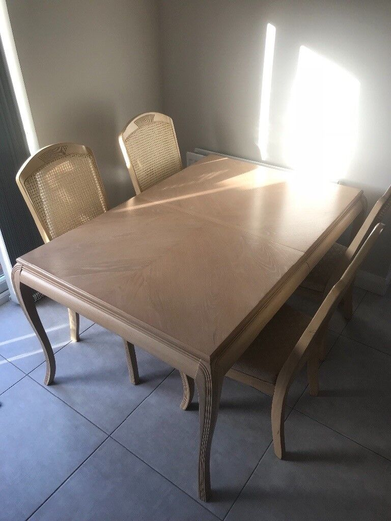 Bleached Wooden Dining Table And Chairs In Portadown County - Bleached wood dining table