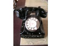 Black Ornamental Telephone Teapot. Made by Tony Carter