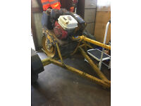 Bomag 55e roller and trailer