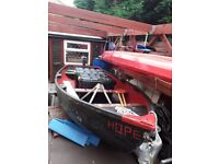 12ft x 5ft tender boat with 2 stroke outboard engine
