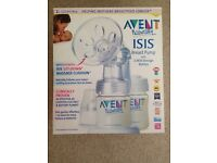 Avent naturally breast pump with storage containers