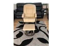 Gliding/swivel chair and footstool