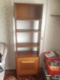 Wall / Corner unit - 1970's 4 shelves and cupboard