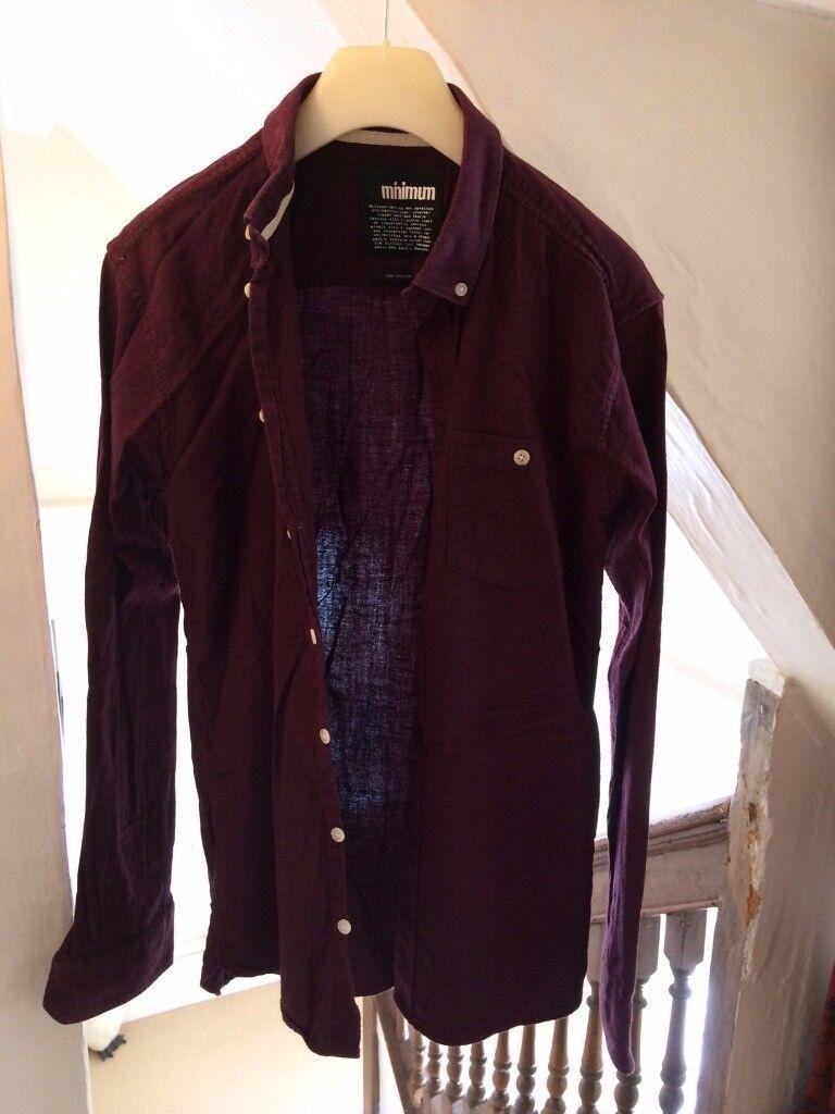 Mens Shirt Medium Size / Maroon