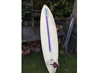 "Nev 6' 8"" Surf Board."