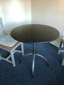 Granite top, Round kitchen table great condition