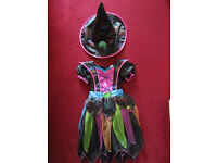 Stunning Girl's Bright Witch Halloween Costume Age 5-7 Yrs Old RRP £ 24.99