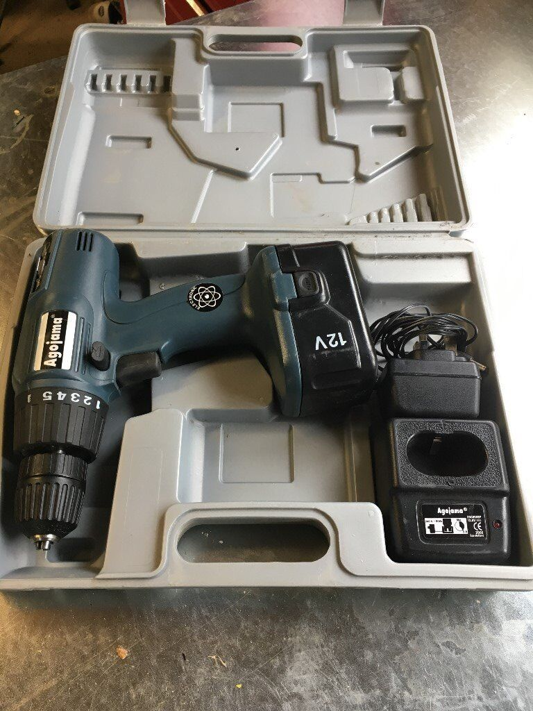 Agojama 12V cordless combi drill.