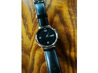 Huawei Watch W1 with black leather strap