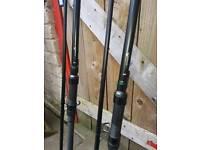2x fox warrior yc carp rods custom built