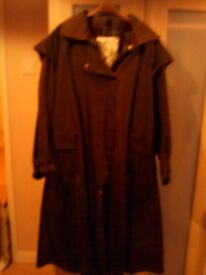 Ladies Waxed Stockman's Coat by Backhouse Colour Brown