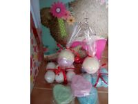 Mixed gift bag bath bombs and soaps