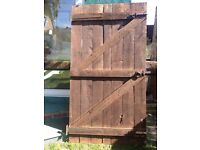 Wooden Gate with iron Mongery