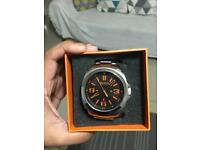 Hugo boos orange men watch. great condition