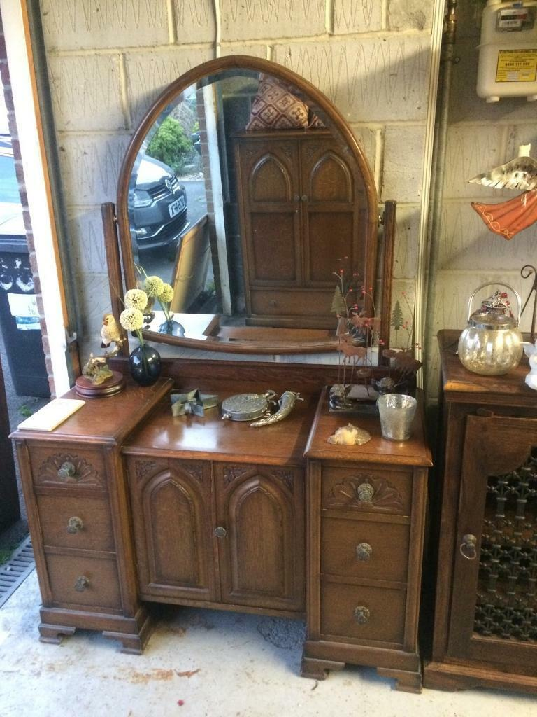 Vintage Dresser With Large Swinging Mirror In Bournemouth Dorset