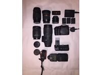 Sony SLT-A77 + 5 Lenses + Accessories