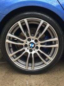Genuine BMW 403M Alloys X4 wrapped with Bridgestone tyres