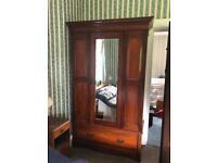 Antique Wardrobe with Mirror