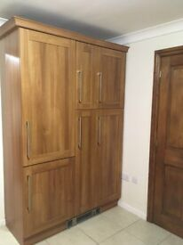 Full fitted kitchen (used) and utility room. Walnut shaker wrapped doors Sigma 3.