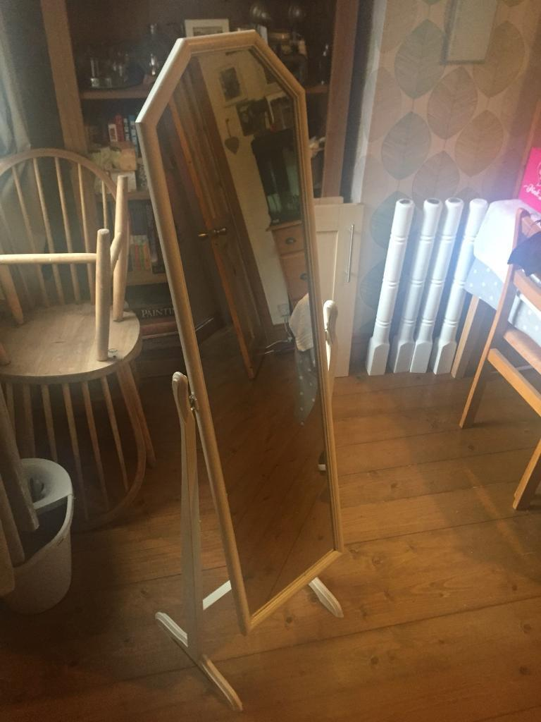 Cream free standing mirror | in Sheffield, South Yorkshire | Gumtree