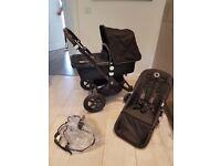 Bugaboo Cameleon 3 Black Travel System Single Seat Stroller Pram **IMMACULATE**