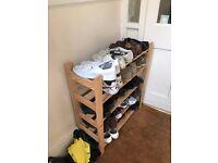 Shoe storage unit - natural wood